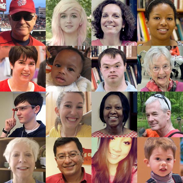 Composite image grid of the many faces of Holy Cross to show our inclusive mission